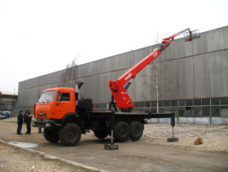 автовышка вездеход 35 метров камаз